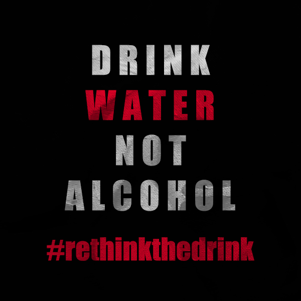 water not alcohol